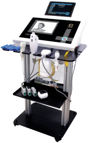 Immagine dispositivo apparecchiatura Focused ultrasounds and Electroporation in Aesthetic Medicine.